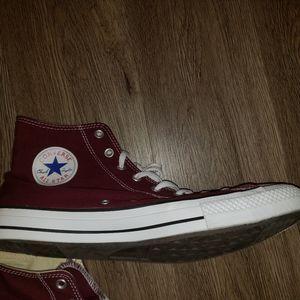 Converse Shoes - Converse burgundy chuck taylors size 13